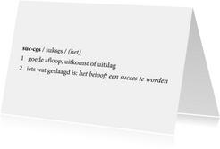 Coaching Woordenboek Succes