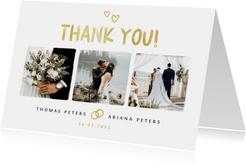 Dankeskarte Hochzeit Pinselstrich Fotocollage