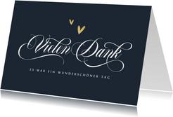 Dankeskarte Hochzeit Schreibschrift