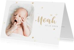 Danksagung Geburt schlicht & pur mit Fotos