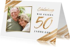 Einladung Goldene Hochzeit Foto & Goldakzente