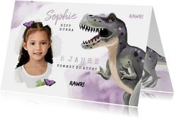 Einladung Kindergeburtstag Dinosaurier Mädchen