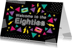 Einladung zum Retro-Geburtstag Eighties Party