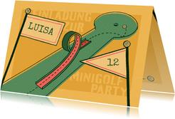 Einladung zur Minigolf-Party