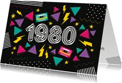 Einladung zur Mottoparty Eighties 1980