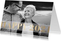 Foto-Neujahrskarte Happy 2021