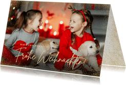 Fotokarte Frohe Weihnachten