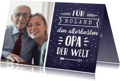 Grußkarte mit Foto 'allerbeste Opa der Welt'
