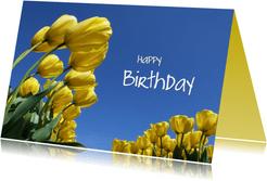 Happy Birthday Gele Tulpen