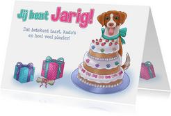 Hondje Hana Verjaardagskaart