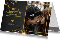 Kerst hippe foto kaart krijtbord sterren Lovely Christmas