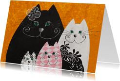 Kunstkaart - Golden katten