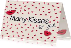 Kusjeskaart many kisses for you!