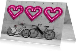 Liefde is samen fietsen