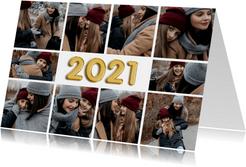 Neujahrskarte 2021 Folienballon und Fotocollage