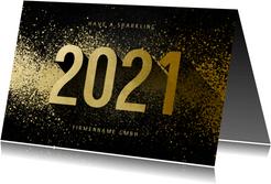 Neujahrskarte geschäftlich 2021 3D-Look
