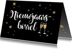 Nieuwjaarsborrel goudlook champagne