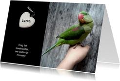 Rouwkaart hart - afscheid huisdier