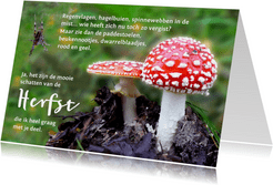 Spreukenkaart Herfst