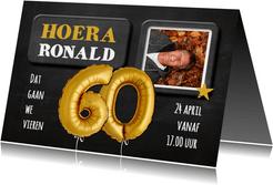 Uitnodiging 60 jaar Ballon goud