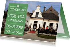 Uitnodiging High Tea Foto
