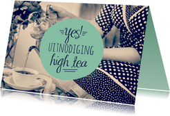 Uitnodiging high tea retro