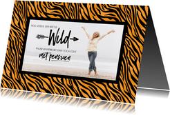 Uitnodiging met pensioen tijgerprint