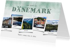 Urlaubskarte Wasserfarben mit 5 eigenen Fotos