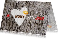 Valentijn hout van jou