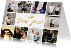 Valentijns fotocollage kaart met ruimte voor 10 foto's