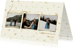 Valentijnskaart fotocollage hartjes achtergrond