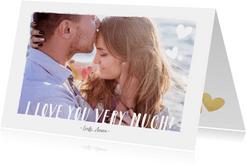 Valentijnskaart met grote foto en tekst i love you very much