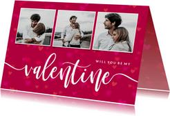 Valentijnskaart will you be my valentine fotocollage