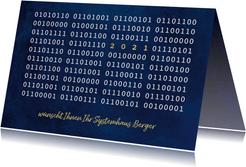Weihnachtskarte Firma Binärcode