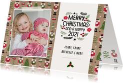Weihnachtskarte mit Foto und Nussknacker Hintergrund