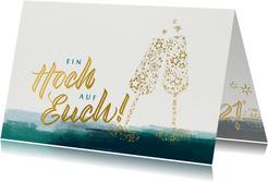 Weihnachtskarte mit Lettering für Mitarbeiter