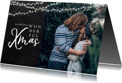 Weihnachtskarte Wonderful Xmas mit Foto