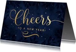 Zakelijke nieuwjaarskaart Cheers to a new year!