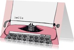 Zomaar Groetjes Typemachine