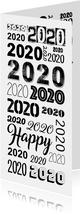 2020 herhaald in verschillende lettertypes