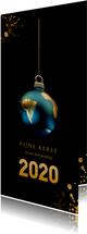 Aarde als kerstbal 2020 zwart en goud
