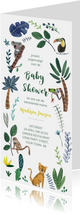 Babyshower tijger en dieren jungle thema