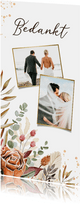 Bedankkaart bruiloft Bohemian stijlvol droogbloemen foto's