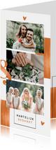 Bedankkaart koper stijlvol chique fotocollage grafisch