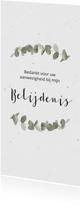 Bedankkaart voor belijdenis met eucalypusbladeren