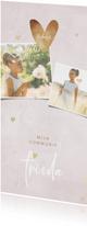 Bedankkaartje communie foto's en hartjes