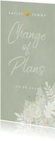 Botanische change of plans kaart junglebladeren en waterverf