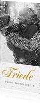 Christliche Weihnachtskarte mit Foto und Sternrahmen