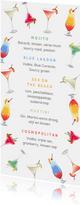 Cocktail kaart menu zomer vrolijk illustraties