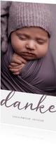 Dankeskarte Geburt großes Foto